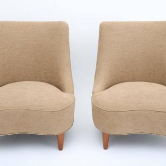 Wormley tear drop lounge chairs