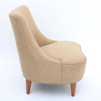 Wormley tear drop lounge chair side