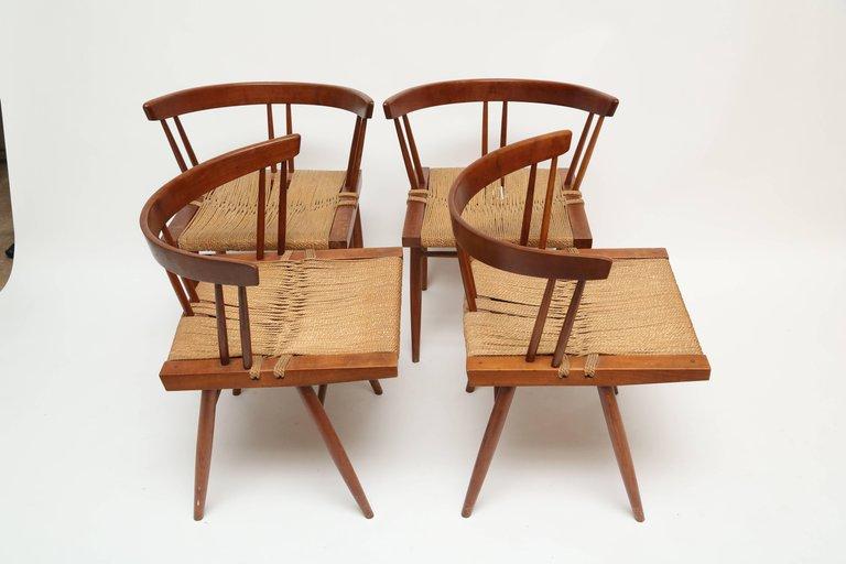 George Nakashima Grass Seat Chairs
